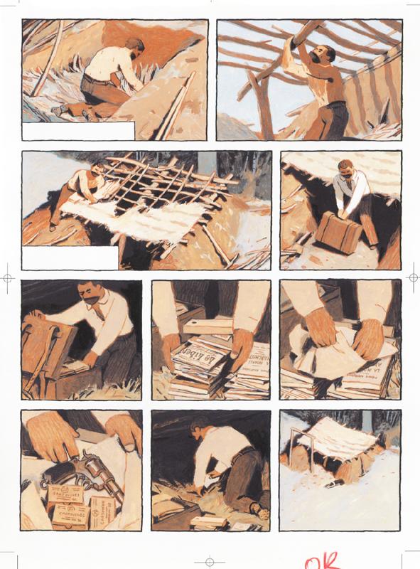 Première construction (mise en couleurs originale de la planche 12)