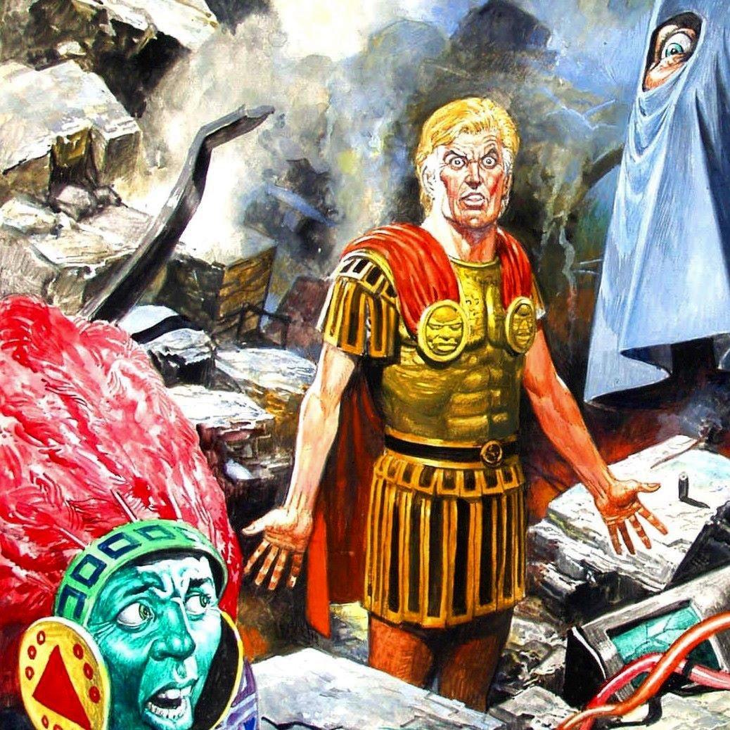 Original d'une couverture pour « Trigan Empire ».