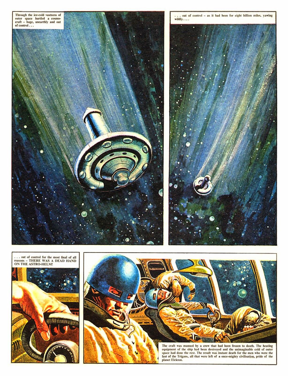Première page de « The Rise and Fall of the Trigan Empire » dans Ranger, en septembre 1965.