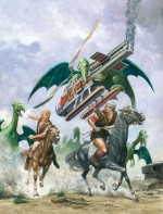 Gouache de Don Lawrence pour « Trigan Empire ».