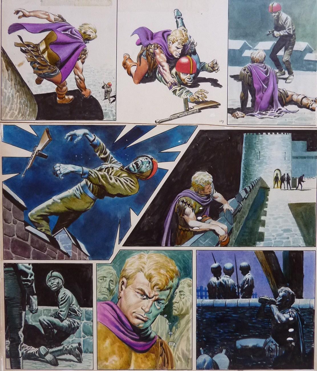 Planche originale de Don Lawrence pour « Trigan Empire » (1967).