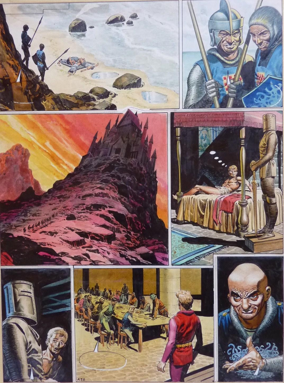 Planche originale de Don Lawrence pour « Trigan Empire » (1968).