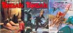 Les tomes 7 à 9 de « L'Empire de Trigan » chez Glénat, publiés entre 1984 et 1986.