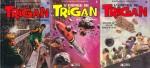 Les tomes 4 à 6 de « L'Empire de Trigan » chez Glénat, publiés entre 1983 et 1984.