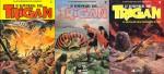 Les tomes 1 à 3 de « L'Empire de Trigan » chez Glénat, publiés entre 1982 et 1983.