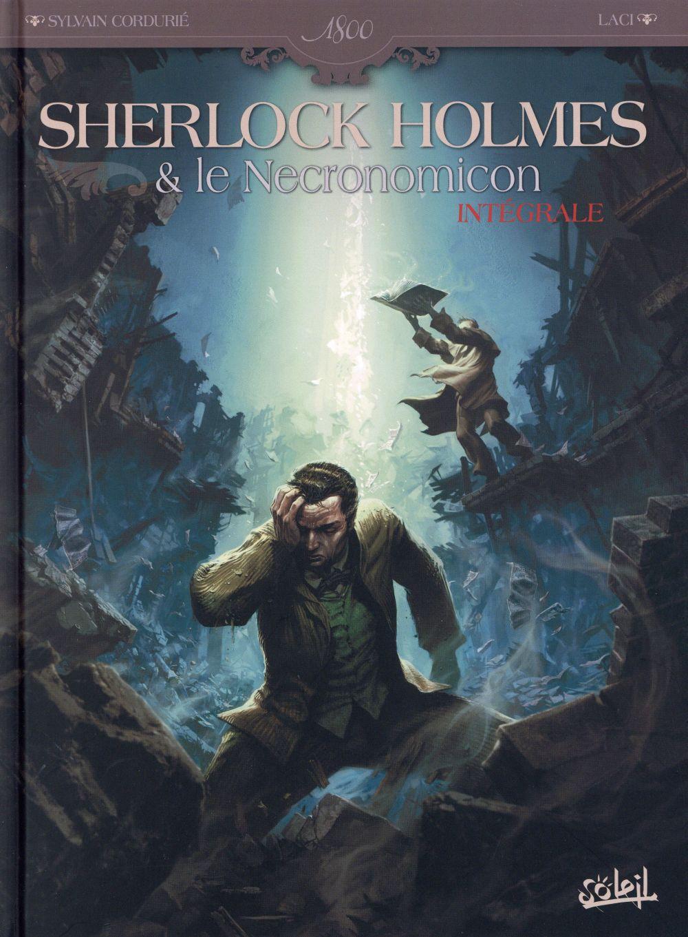 Couverture de l'intégrale pour Sherlock Holmes et le Nécronomicon (mai 2015)