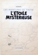 Une des « mises en page » réalisées par Hergé pour les couvertures.