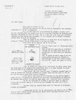 Hergé envoie un courrier le 18 mai 1942. Il y décrit ses intentions pour la page de titre et sa décision pour des histoires en 62 pages.