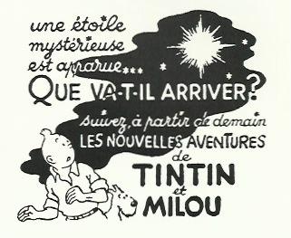 Dernière case du dernier strip du « Crabe aux pinces d'or » paru dans Le Soir du 18/19 octobre 1941 et repris comme dessin annonce le 22 mai 1942.