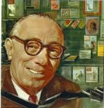 Dessin représentant Cino Del Duca dans un article de la presse italienne intitulé « Le Roi de la presse du cœur », en 1960.