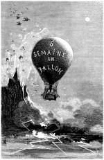 Gravure d'Edouard Riou pour Cinq semaines en ballon par Jules Verne (éd. J. Hetzel & Cie, Paris 1863)
