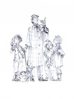 L'univers des Quatre de Baker Street : dessins et encrages par David Etien