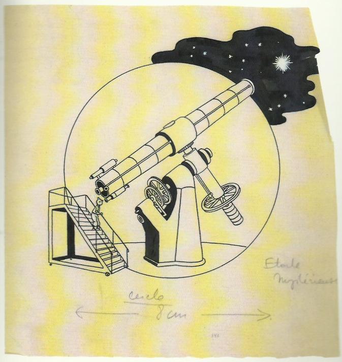 Cul-de-lampe pour la page de titre de l'album « L'Étoile mystérieuse », dessiné en 1942.