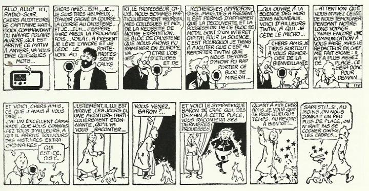 Derniers strips de « L'Étoile mystérieuse » publiés dans Le Soir des 21 et 22 mai 1942 et non repris dans l'album, puisqu'annonçant la publication des « Aventures du baron de Crac » de Jacques Van Melkebeke.