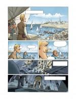 Sybille en ce miroir ? La parodie par Rodrigue (planche 38) et la version originelle (planche 15 de Croisade T6 : Sybille, jadis - Lombard, 2011)