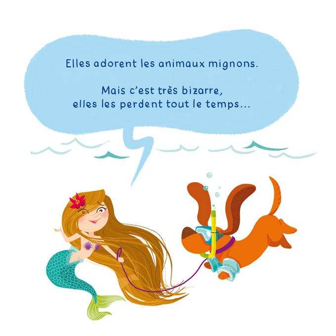 C'est pas toujours pratique d'être une créature fantastique Sirène animaux de compagnie