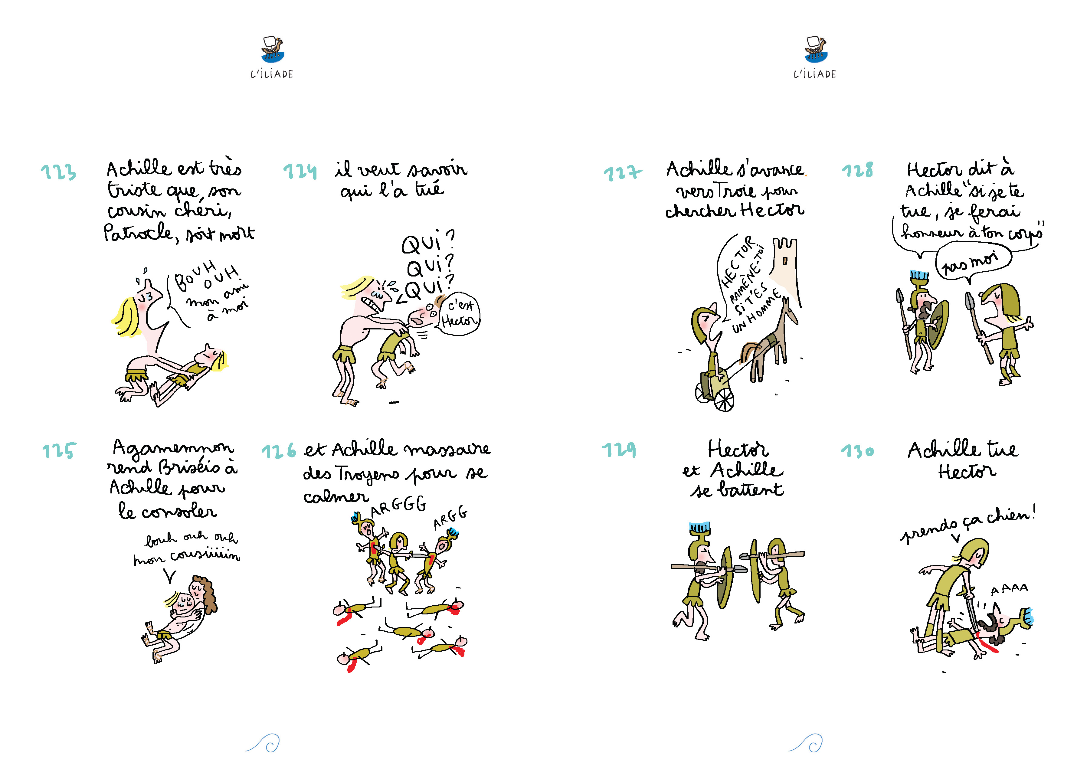 L'Iliade de Soledad Bravi  cases 123 à 130