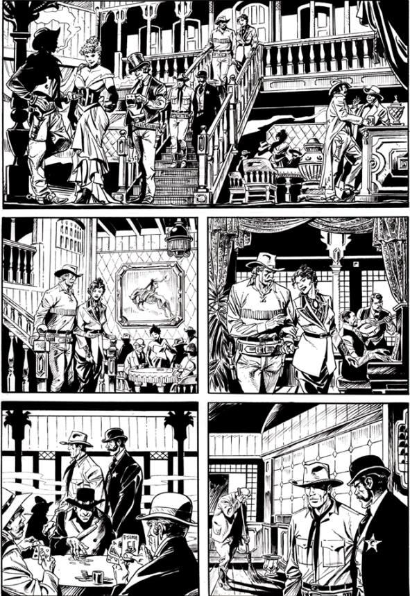 Página-de-Massimo-Rotundo-do-Tex-Gigante-a-publicar-este-mês-escrito-por-Pasquale-Ruju-e-tendo-como-título-Galveston