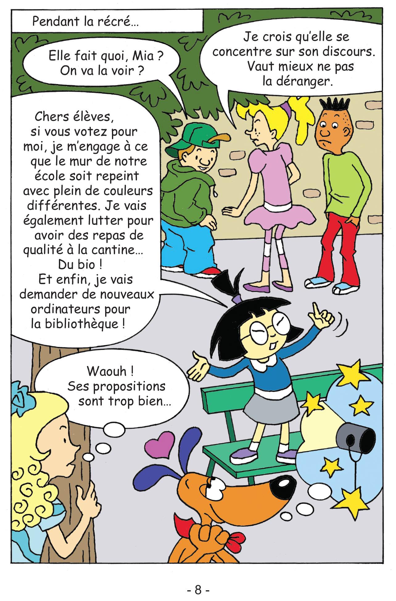 Rocky & Cie tome 4 Votez Mia page 8