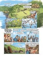 Le tournoi d'archers dans La parodie (planche 3, Lombard 2015) et dans Les Archers (planche 27, Le Lombard 1985)