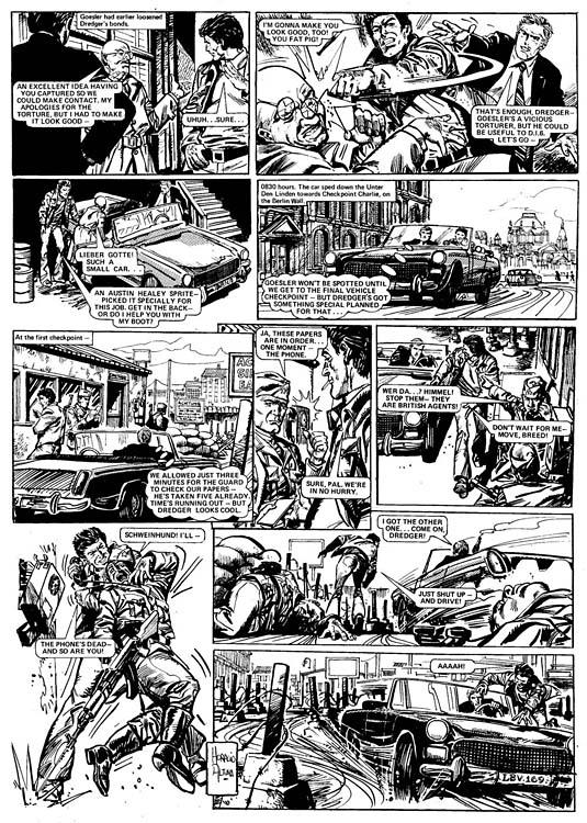 « Dredger »  dans la revue Action, en 1976.