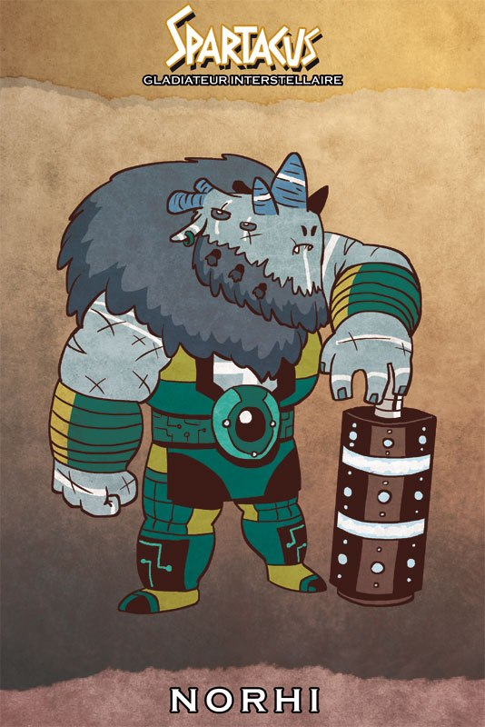 Marc Lataste  projet ancien spartacus personnages