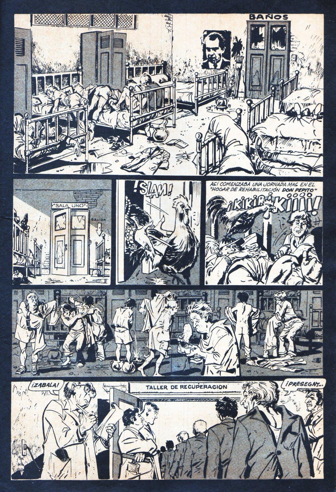 Une autre page d'Altuna dans Satiricón.