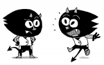 kid ninja cat étude pour un projet manga