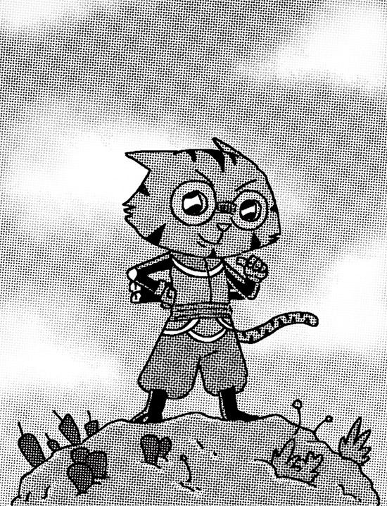 ninja cat étude pour un projet manga