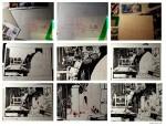 Les différentes étapes de la création (case de la planche 22) par F. Porcel (2014)