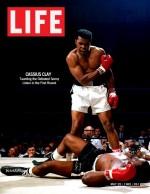 """Une photo emblématique : le """"phantom punch"""" d'Ali contre Liston en mai 1965 (Life)"""