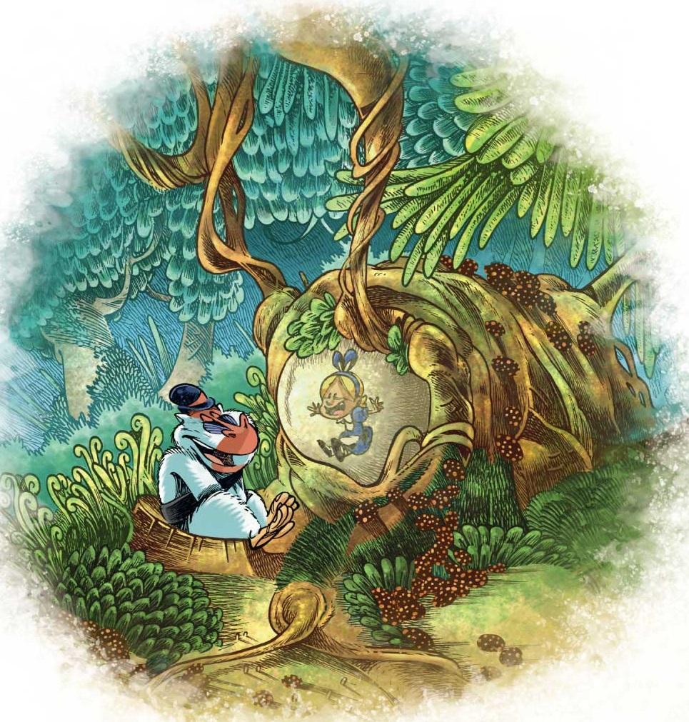 Alice au pays des singes dernier dessin
