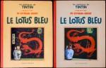 L'album qu'Hergé aurait souhaité, couverture en trichromie (maquette) et l'album édité avec la couverture définitive au trait. À ce sujet, Hergé écrit à Louis Casterman en avril 1936 : « Ayant les deux dessins en présence, vous pouvez juger vous-même de la différence ».