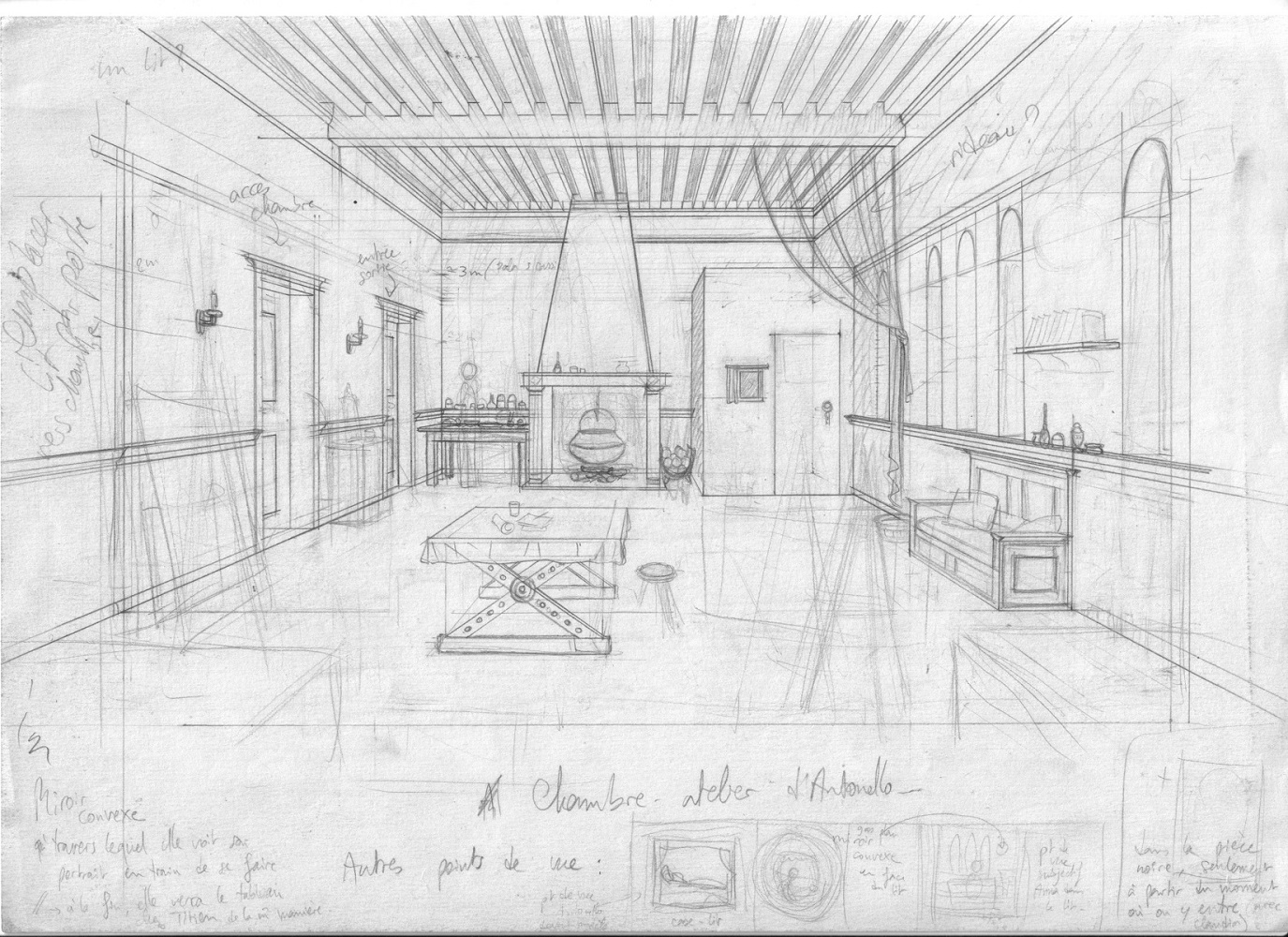 Dessin Jean Dytar appartement Antonello