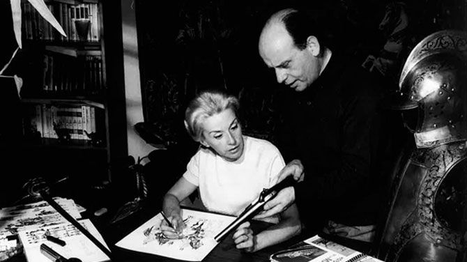 Lilane et Fred Funcken.