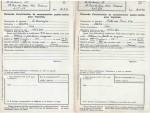 Relevés de consommation de papier de septembre 1942, évoquant des « volumes en feuille en magasin ».