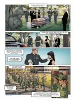 Le sacrifice du soldat, version féminine. Planche 3 (Desberg, Legrain et Le Lombard 2015)