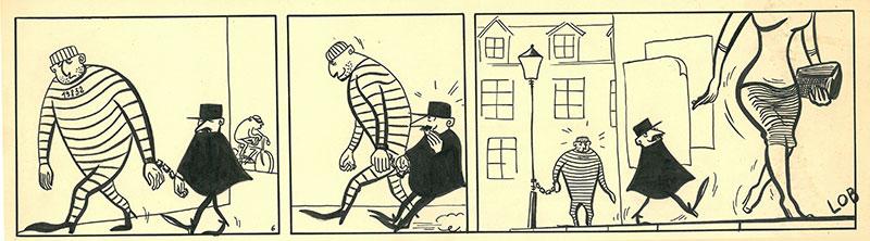 Un strip original de Jacques Lob.