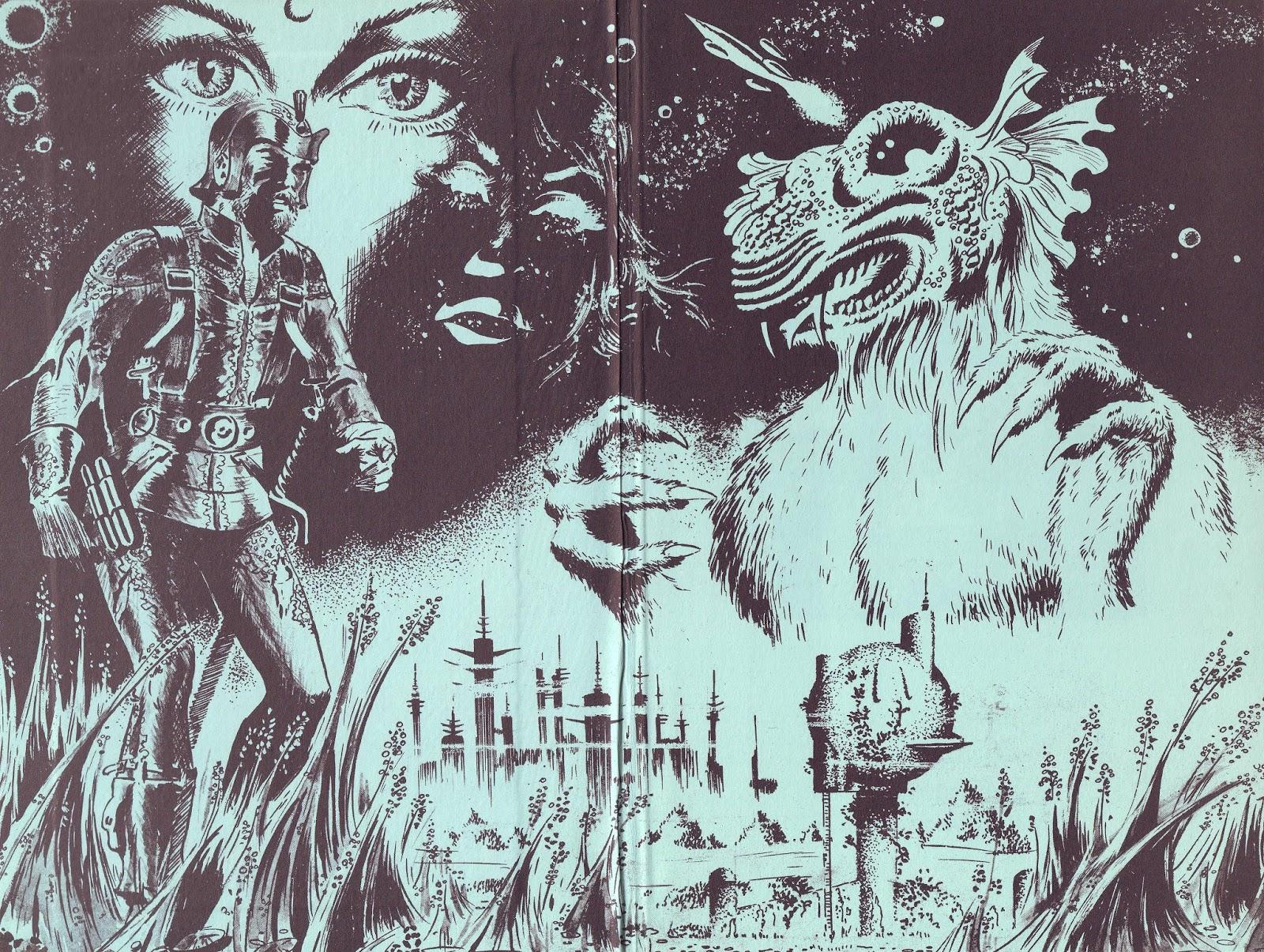 Illustration pour « Au-delà du néant » d'A. E. Van Vogt aux éditions Opta, en 1969.