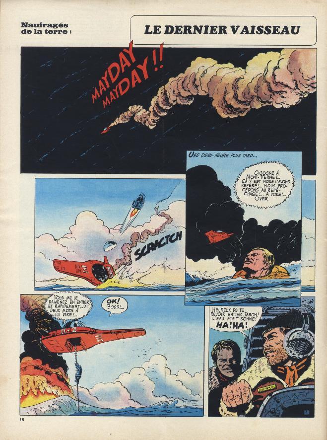Première page de « Jason Muller » dans le n° 537 de Pilote, en 1970.