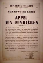 Affiche de l'appel aux ouvrières, le 18 mai 1871