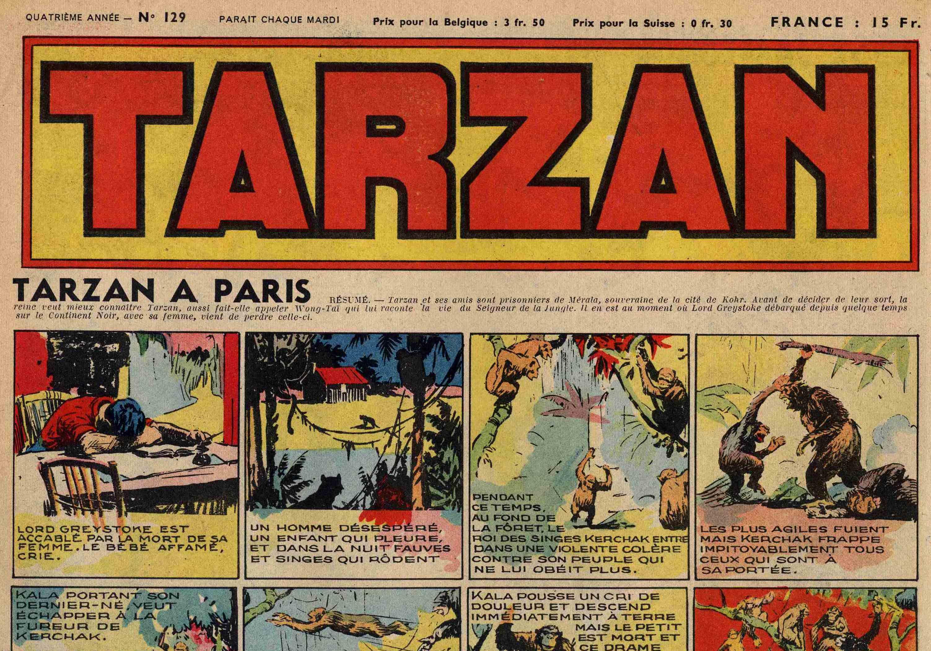 Réédition des vieilles bandes de « Tarzan » par Harold Foster.