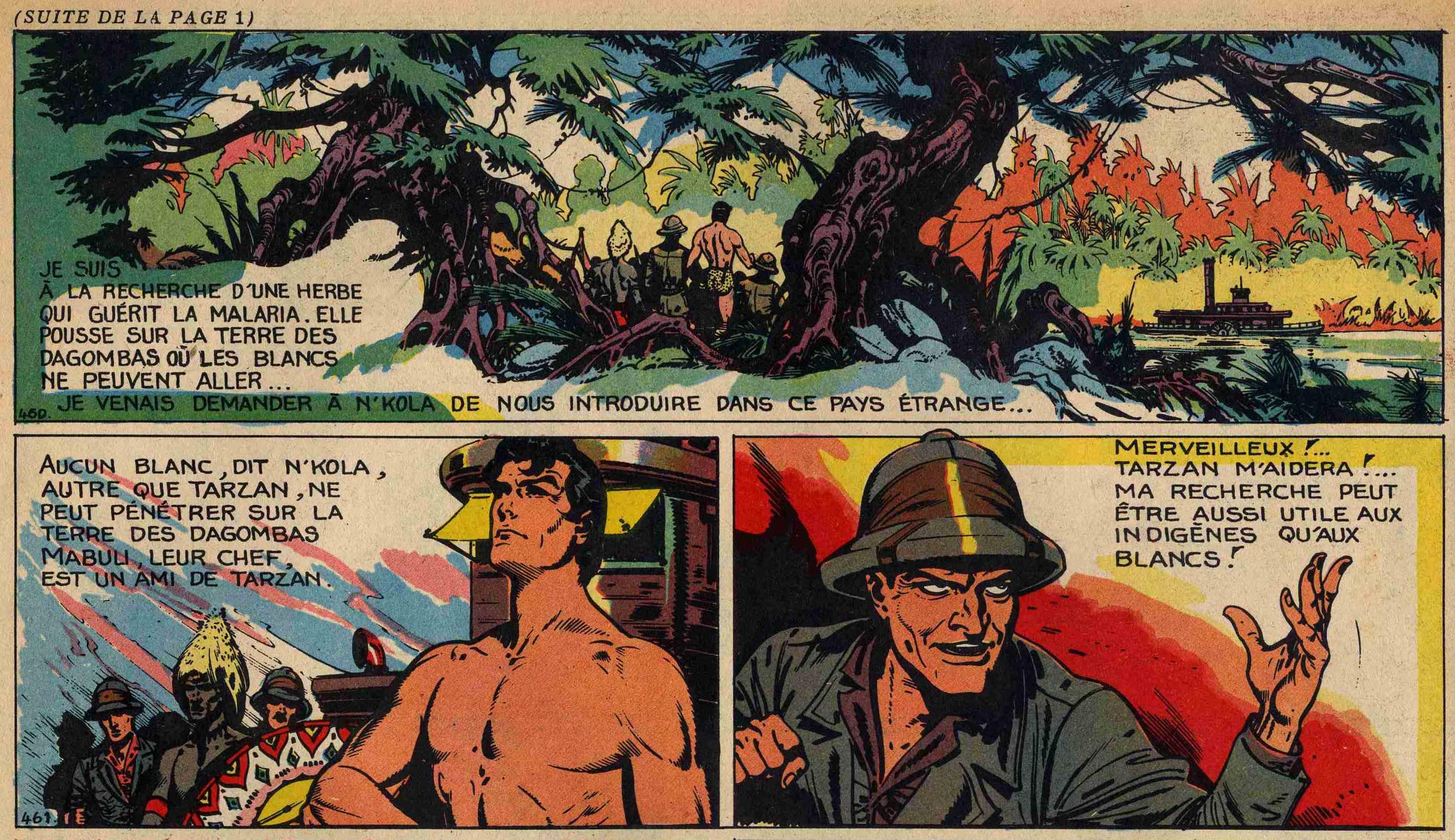 « Tarzan » repris par Burne Hogarth.