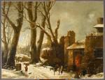 Une première neige dans le Piémont (Van Loo, début 19e)