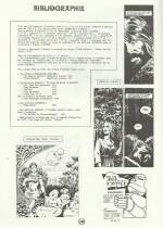 Dernière page du dossier Claude Auclair dans le n° 5 de Dommage, en 1982.
