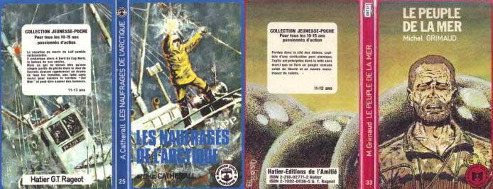 Deux autres romans de la collection Jeunesse-poche illustré par Claude Auclair.