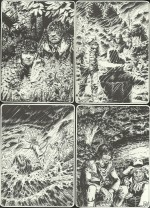 Quatre images pour « Quand gronde la rivière » aux éditions de l'Amitié, en 1975.