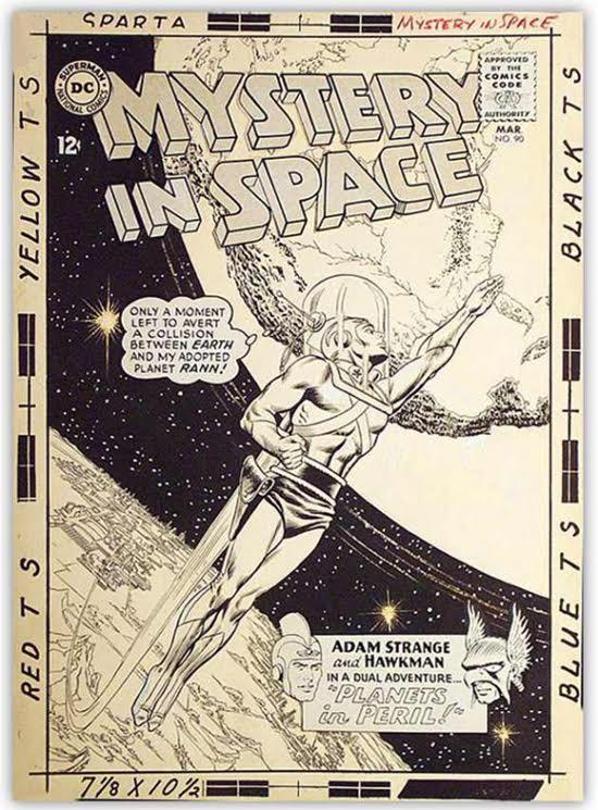 Mystery in Space 90, avec Adam Strange, la plus belle création d'Anderson.