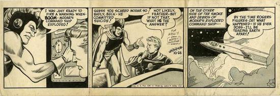 Le daily strip de « Buck Rogers » du 26/10/48 par Anderson.