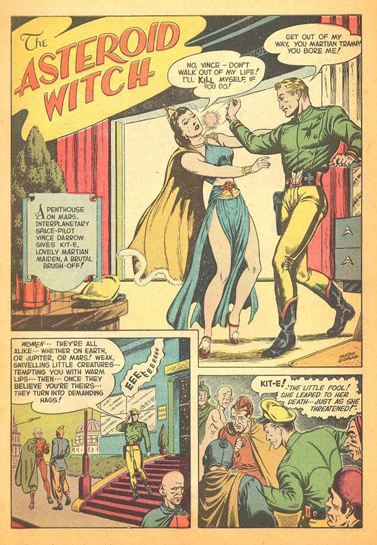 Une histoire de SF écrite par Jerry Siegel d'Amazing Adventures n° 1 (Ziff Davis, 1950) et parue en France dans Golden Comics n° 3 (Univers Comics).
